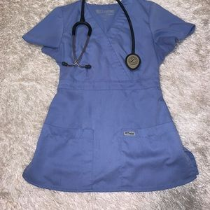 Light blue XS Grey's Anatomy scrub top